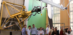 Students of the Helicopter Design Department of MAI visit TsAGI