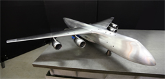 A model of Slon heavy-load transport aircraft built in TsAGI