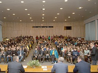 •	This year, more than 400 schoolchildren and students from Moscow and the cities of the Moscow Region visited the Central AeroHydrodynamic Institute during the Doors Open Day. The event started from a formal meeting and a speech by the Director General of TsAGI and Member of the Russian Academy of Sciences Sergey Chernyshev.