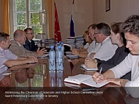 Addressing the Chairman of Sciences and Higher School Committee under Saint-Petersburg Government in Smolny