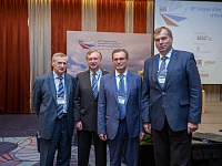 "JSC ""United Aircraft Corporation"" R & D Center Director Vladimir Kargopoltsev, ICAS President Murray L. Scott, Executive Director of TsAGI Sergey Chernyshev, Chairman of the Committee on science and higher education of Saint-Petersburg Andrey Maksimov"