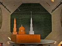 Cathedral mosque model tests in wind tunnel T 1-2.